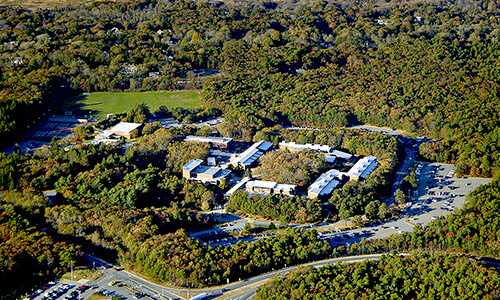 Aerial view of the West Barnstable campus