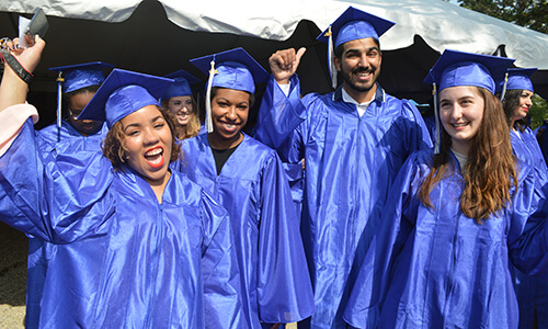 Group of graduates celebrating